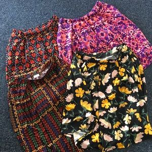 Like new! Lularoe Four Madison Skirt Bundle